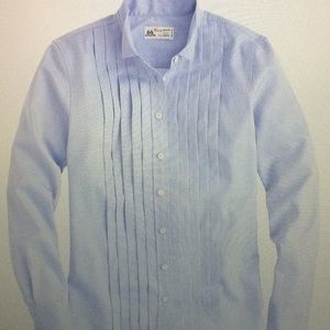 Thomas Mason for JCrew Tuxedo Shirt in Blue